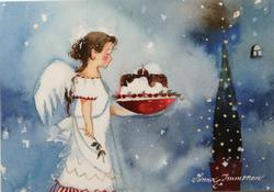 Lumihiutale enkeli