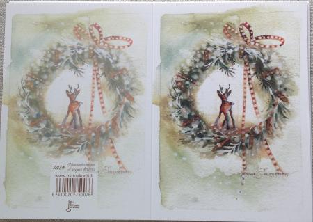 Kaksiosainen kortti Kauriskranssi