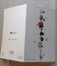 Kukkaköynös kaksiosainen kortti
