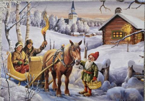 Erik Forsman häste med släde, vain ruotsiksi