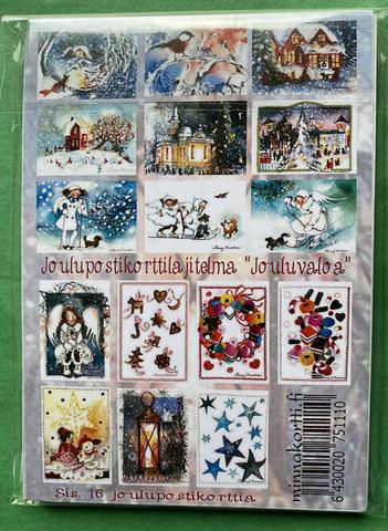 Jouluvaloa 16 kpl korttinippu