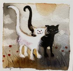 Kissat neliökortti