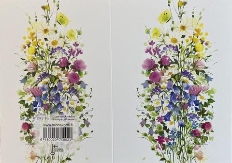 Luonnonkukkia 2-osainen kortti