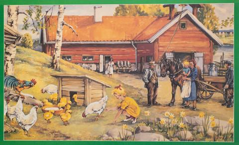 Maatilan pihapiiri Erik Forsman