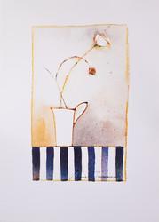 Kukkaoksa maljakossa juliste 50 x 70