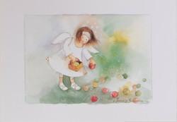Enkeli omenankeruussa A4