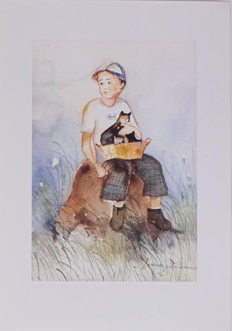 Poika ja kissat A4