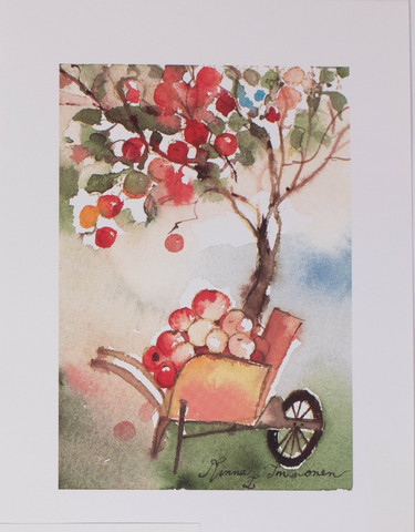 Kottikärryllinen omenoita A4