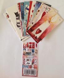 Pakettikorttinippu kynttilän sydän