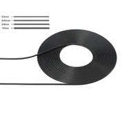 Cable, black 0,8mm outer diameter (2m)