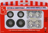 Drag Gasser Wheels & Tires 1:25