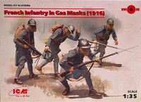 French Infantry in Gas Masks (1916) 1:35