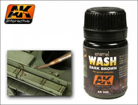 Enamel Wash Dark Brown for Green Vehicles 35ml