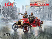 Model T 1914 Fire Truck with Crew 1:24