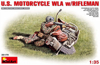 U.S. Motorcycle WLA with Rifleman 1:35