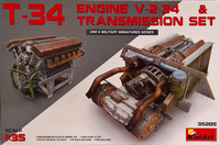 T-34 Engine & Transmission Set 1:35
