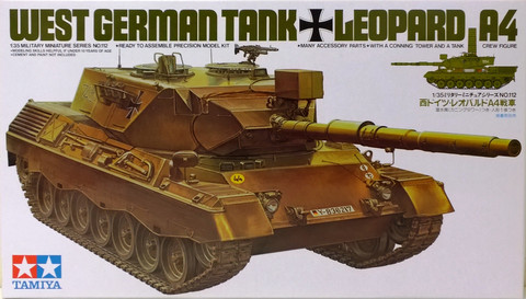 West German Tank Leopard A4 1:35