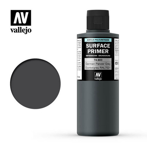 Surface Primer German Panzer Grey (RAL7021) 200ml