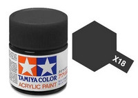 X-18 Semi Gloss Black 23ml