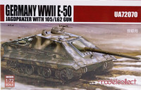 German WWII E-50 Jagdpanzer with 105/L62 Gun, 1:72