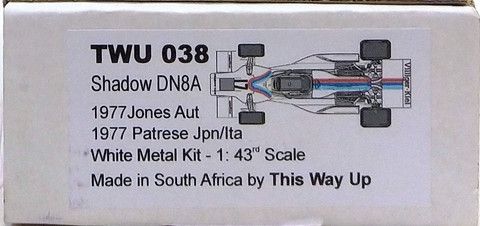 Shadow DN8A (A.Jones & R.Patrese), 1:43