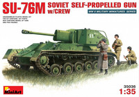 SU-76M Soviet Self-Propelled Gun with Crew, 1:35