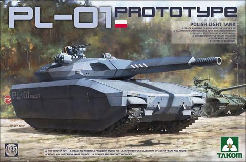 Polish PL-01 Prototype light tank, 1:35 (pidemmällä toimitusajalla)
