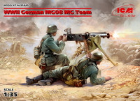 WWII German MG08 MG Team, 1:35