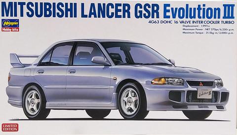 Mitsubishi Lancer GSR Evo III, 1:24 (pidemmällä toimitusajalla)