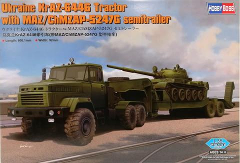 Ukraine KraZ-6446 Tractor with MAZ/ChMZAP-5247G Semitrailer, 1:35 (pidemmällä toimitusajalla)