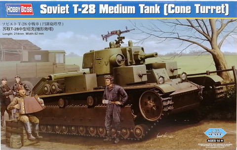 Soviet T-28 Medium Tank (Cone Turret), 1:35