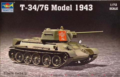 T-34/76 Model 1943, 1:72 (pidemmällä toimitusajalla)