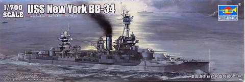 USS New York BB-34, 1:700