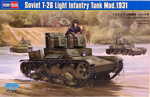 Soviet T-26 Light Infantry Tank Mod.1931, 1:35 (pidemmällä toimitusajall)