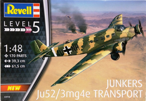 Junkers Ju52/23mg4e Transport, 1:48 (pidemmällä toimitusajalla)