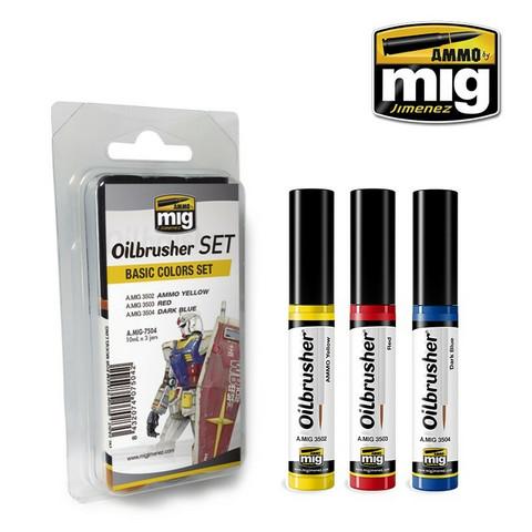 Oilbrusher Set, Basic Colors