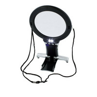 Dual Purpose Neck & Desk Magnifier with Led Light