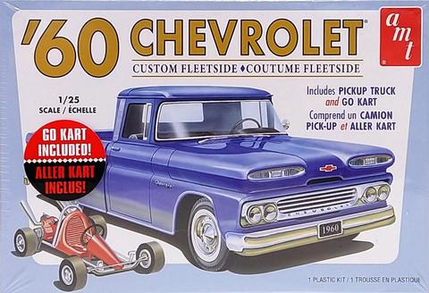 Chevrolet Custom Fleetside '60 and Go Kart, 1:25 (pidemmällä toimitusajalla)