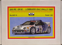 Ford RS200 Gr.B Lombard RAC Rally 1986, 1:24