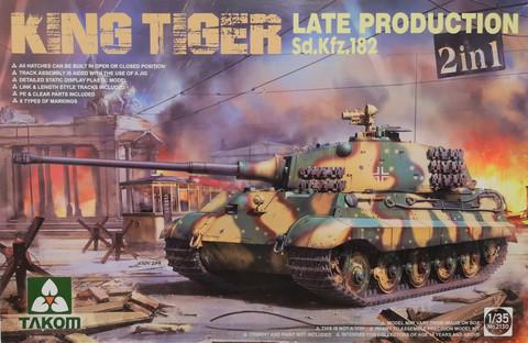 King Tiger Late Production Sd. Kfz. 182 2in1, 1:35 (pidemmällä toimitusajalla)