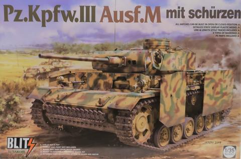 Pz. Kpfw. III Ausf. M mit schürzen, 1:35 (pidemmällä toimitusajalla)