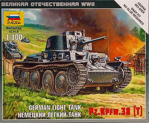 German Light Tank Pz.Kpfw.38(t), 1:100
