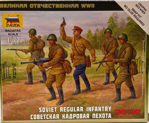 Soviet Regular Infantry 1941-1942, 1:72