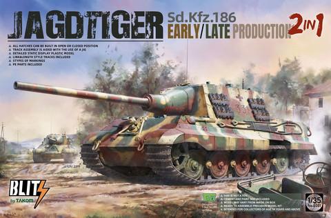 Sd.Kfz.186 Jagdtiger early/late production 2 in 1, 1:35 (pidemmällä toimitusajalla)