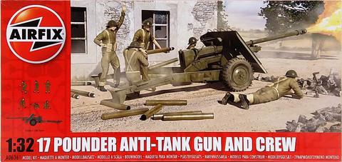 17 Pounder Anti-Tank Gun and Crew, 1:32 (pidemmällä toimitusajalla)