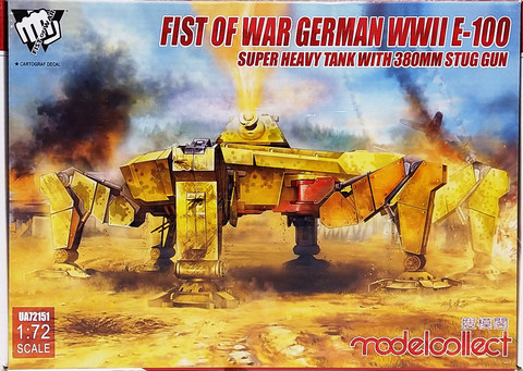Fist of War, German WWII E-100 Super Heavy Tank with 380mm Stug Gun, 1:72