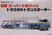 Hino Super Dolphin with Car Trailer, 1:24