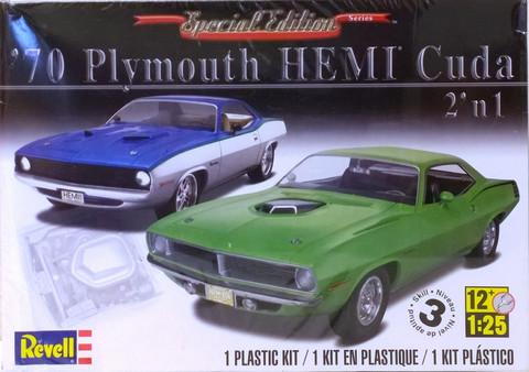 Plymouth Hemi Cuda '70 2'n1, 1:25 (pidemmällä toimitusajalla)