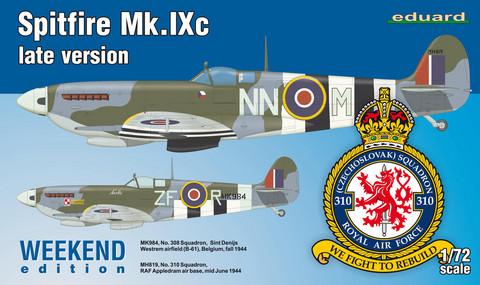 Supermarine Spitfire Mk.Ixc Late Version, 1:72 (pidemmällä toimitusajalla)