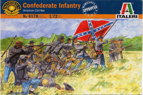 Confederate Infantry No.2, 1:72